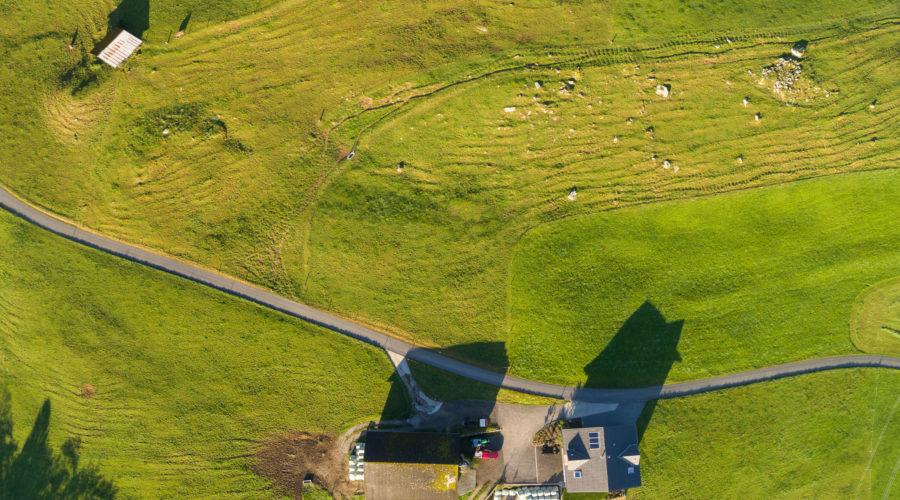 Luftaufnahme Liegenschaft Trubenberg, Goldau