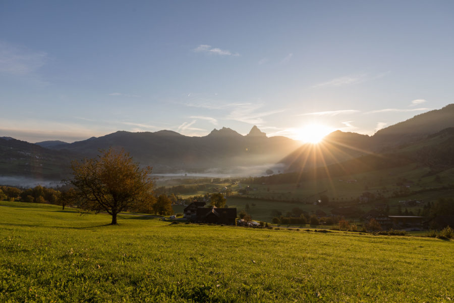 Aussicht vom Trubenberg, Goldau, Richtung Mythen