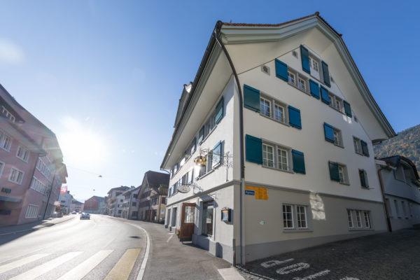 Haus Krone Arth mit Gotthardstrasse